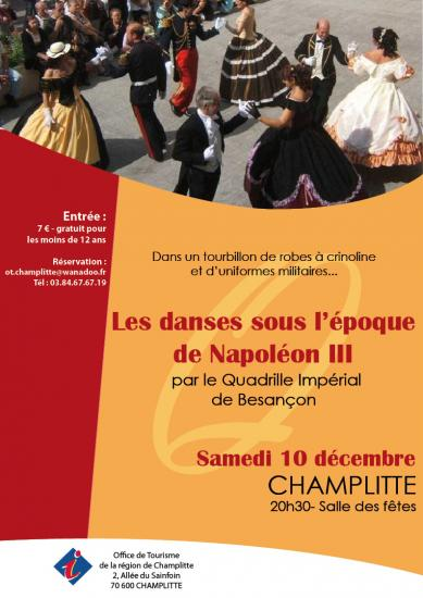 Le 10 Décembre à Champlitte réservation 03 84 67 67 19