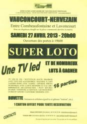 SUPER LOTO Vauconcourt-Nervezain
